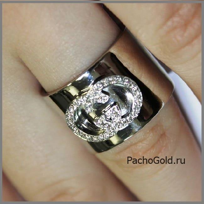 Авторское кольцо Я люблю Гуччи для женщины с бриллиантами