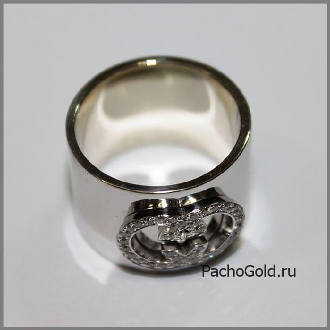 Авторское золотое кольцо Я люблю Гуччи на заказ