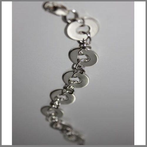 Браслет из серебра геометрической формы на заказ