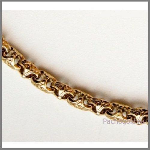 Браслет плетения Краб из желтого золота