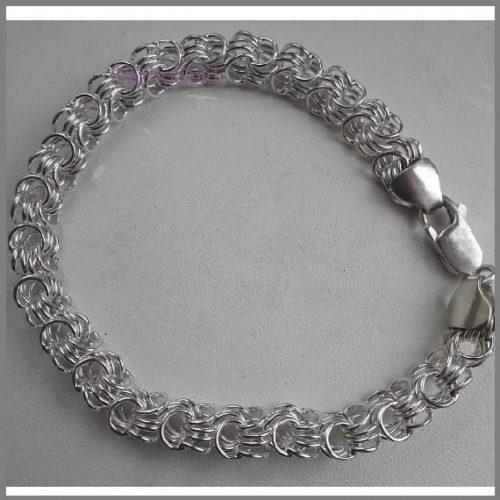 Браслет Розочка из серебра ручной работы