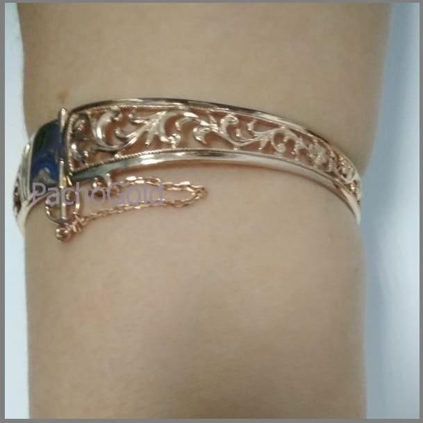 Жесткие золотые женский браслеты