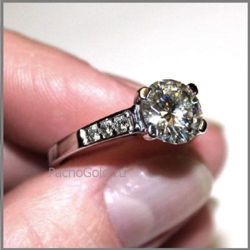 Бриллиантовое кольцо ручной работы Reverie