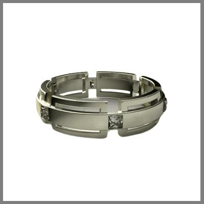 Интересное обручальное кольцо из золота ручной работы