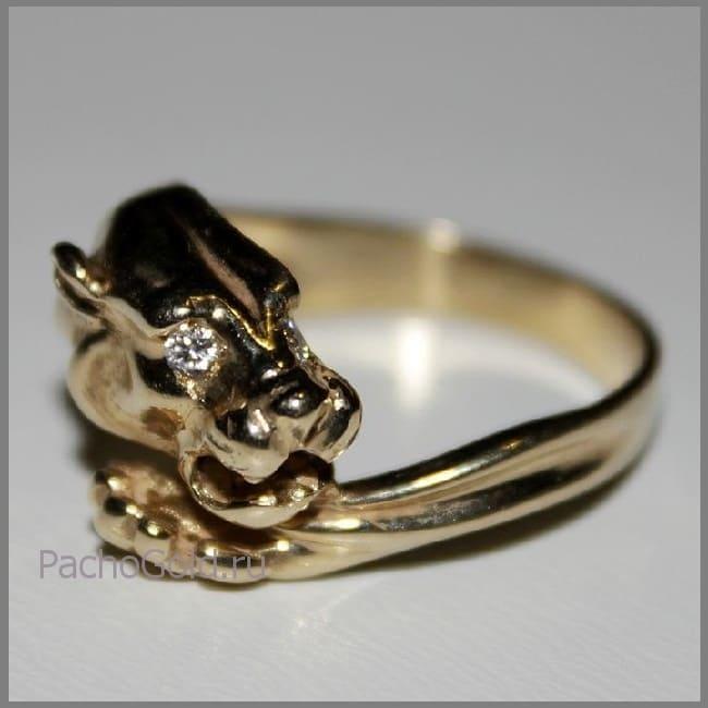 Изготовление золотого кольца Ласковая львица