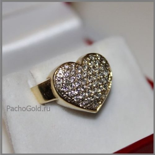 Кольцо Бриллиантовое сордце