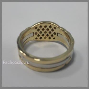 Мужское кольцо из двух видов золота Броня