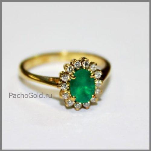 Кольцо для женщины с изумрудом ручной работы Emerald