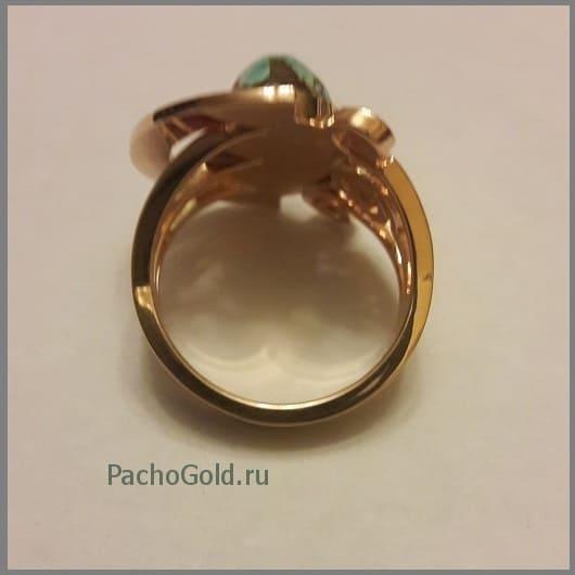 Кольцо с большим камнем для женщины Green-stone