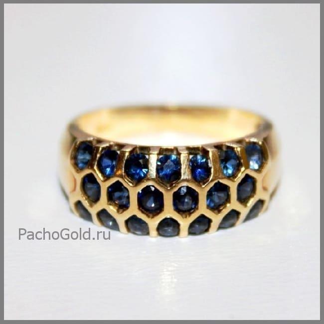 Кольцо для женщины Сапфировая дорожка