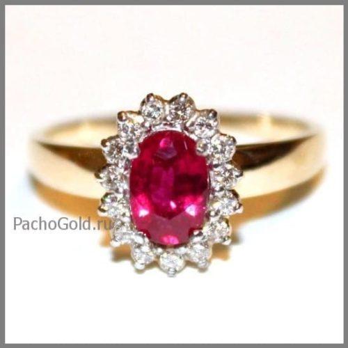 Кольцо из красного золота Королевский рубин для женщины