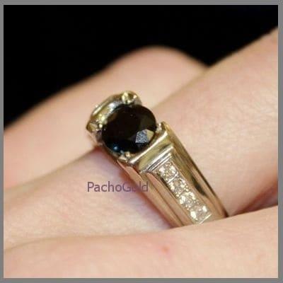 Кольцо из белого золота для мужчины Blue Abyss