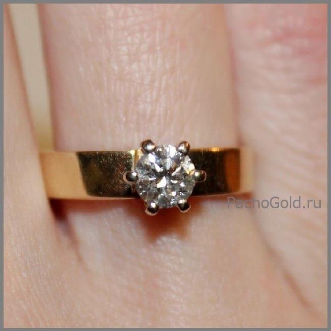 Кольцо с бриллиантом ручной работы Мечта