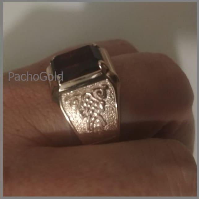 Кольцо с квадратным гранатом для мужчины Big Men