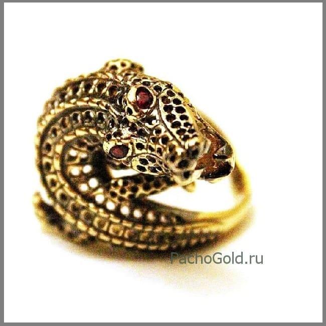Кольцо с животными Крокодил