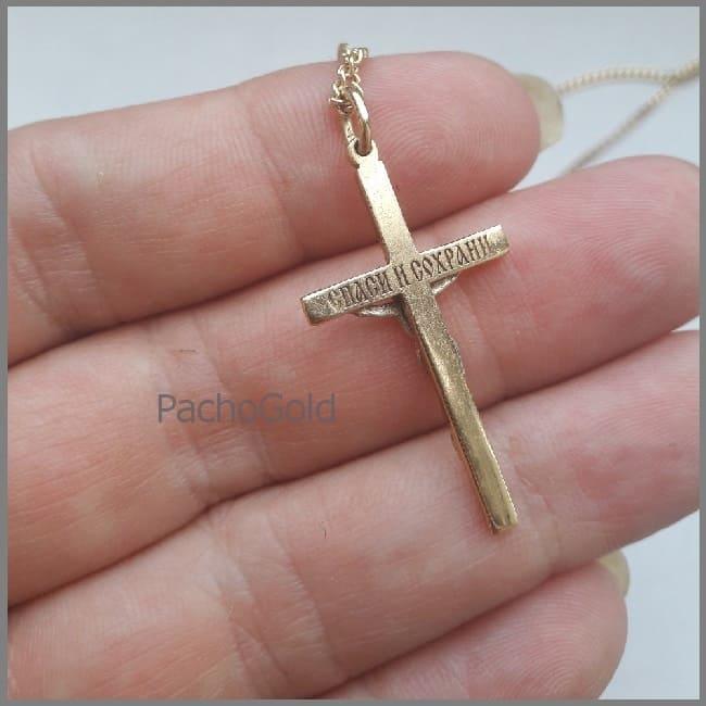 Крест подвеска с бриллиантами на заказ