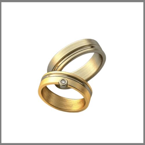 Матовые обручальные кольца из золота