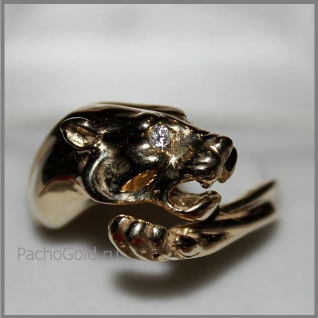 Модное женское кольцо Ласковая львица на заказ