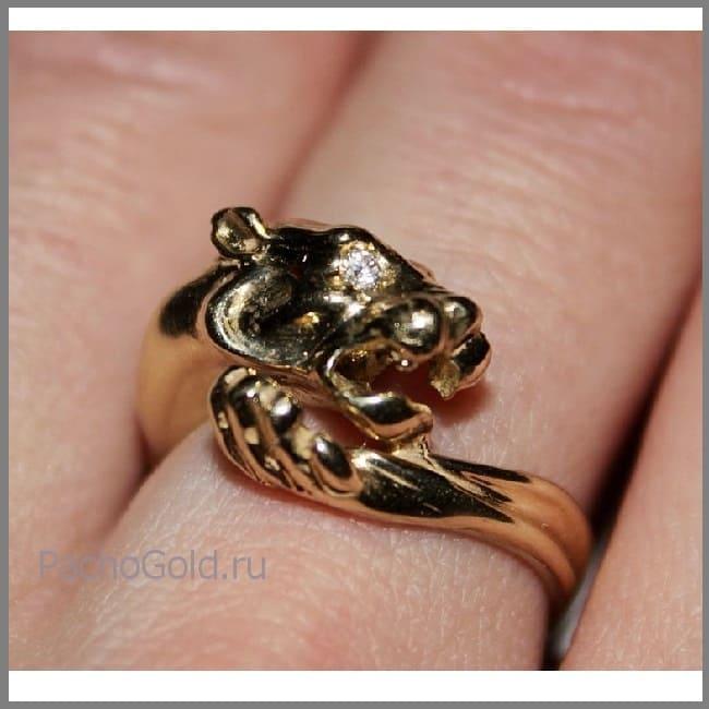 Модное женское кольцо Ласковая львица