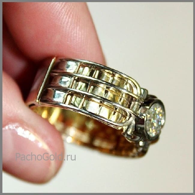 Мужской перстень Альфа на заказ