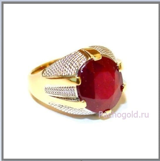 Мужское кольцо перстень Faraon с рубином