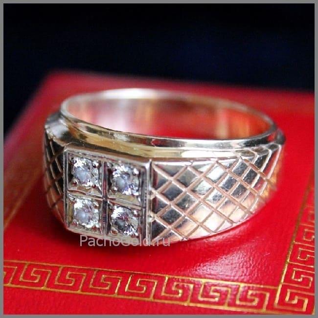 Мужское кольцо из золота Властелин