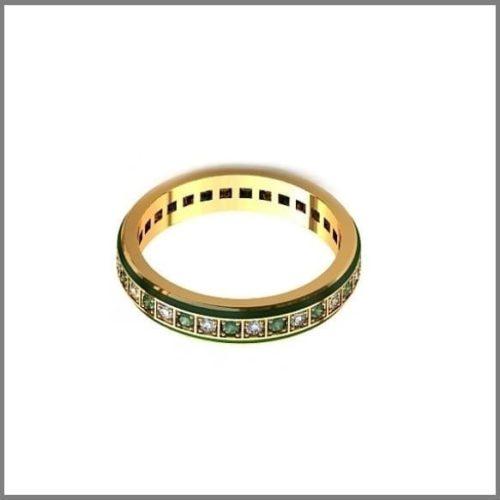 Обручальные кольца с камнями по кругу