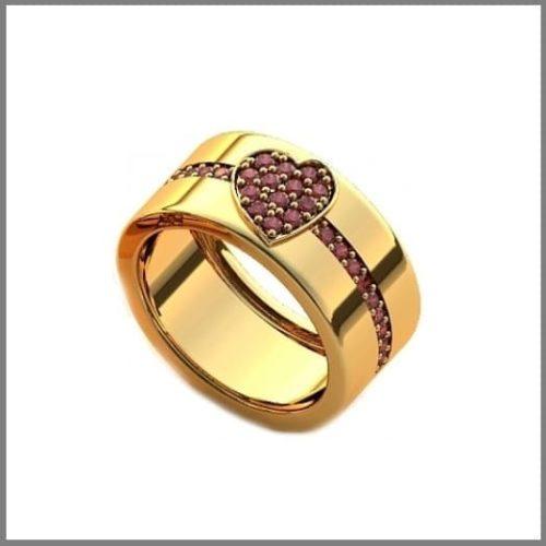 Обручальное кольцо с сердечком