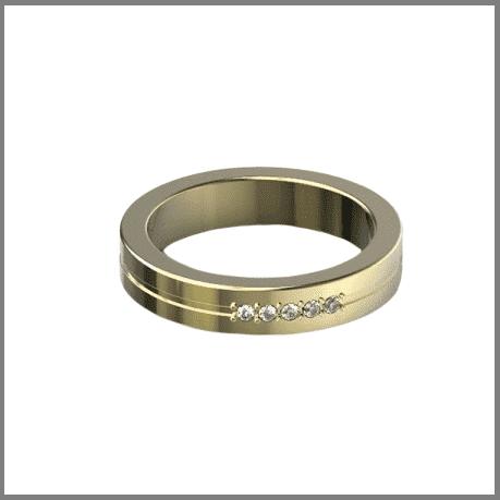 Обручальное золотое кольцо Шайба