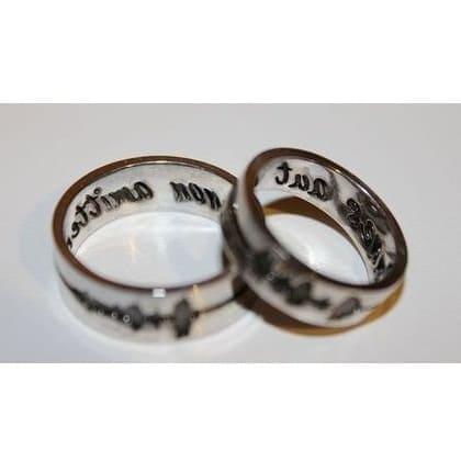 Золотые обручальные кольца Одно дыхание на двоих ручной работы