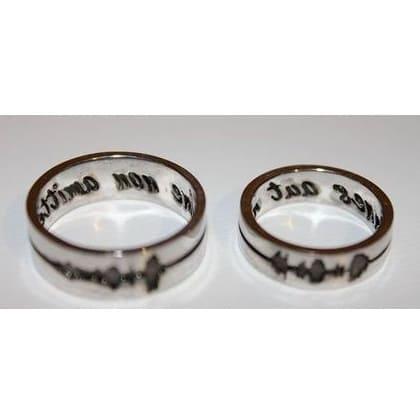 Обручальные кольца Одно дыхание на двоих на заказ