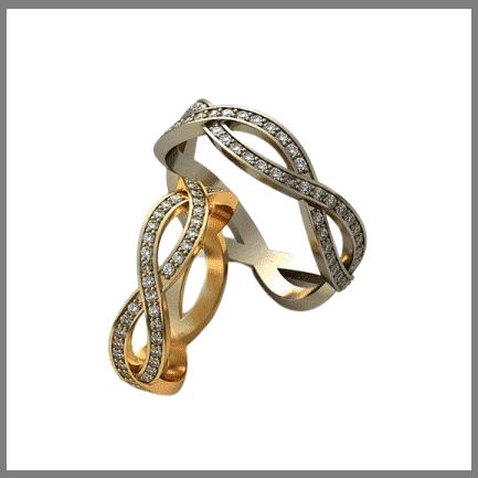 Обручальные кольца Бесконечность на заказ