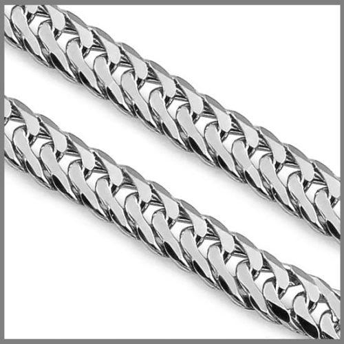 Панцирная серебряная цепочка ручной работы