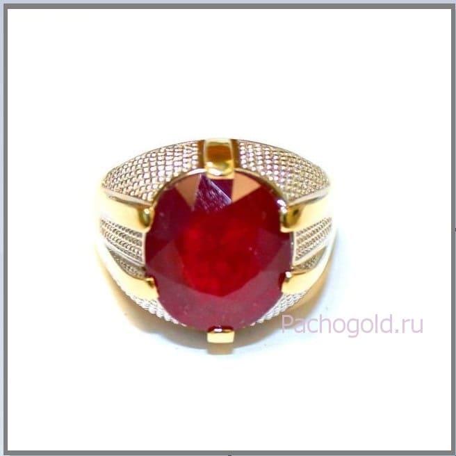 Перстень с рубином для мужчины Faraon Red
