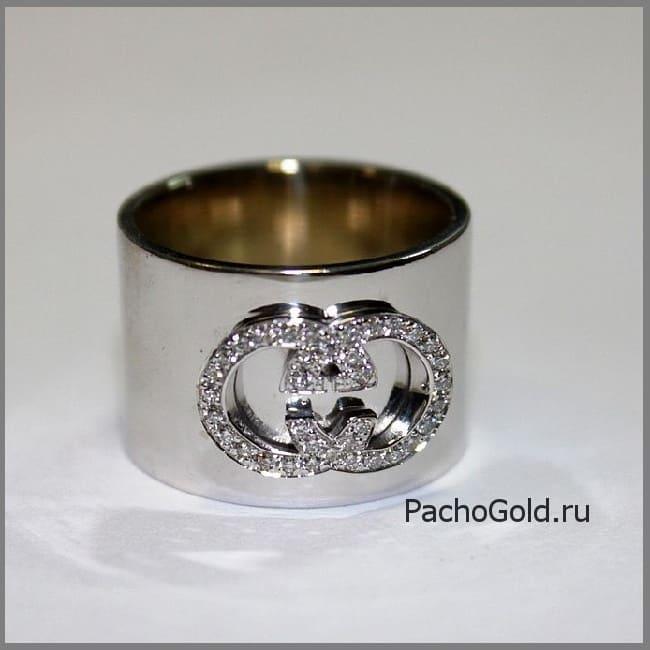 Широкое кольцо для женщины Я люблю Гуччи ручной работы