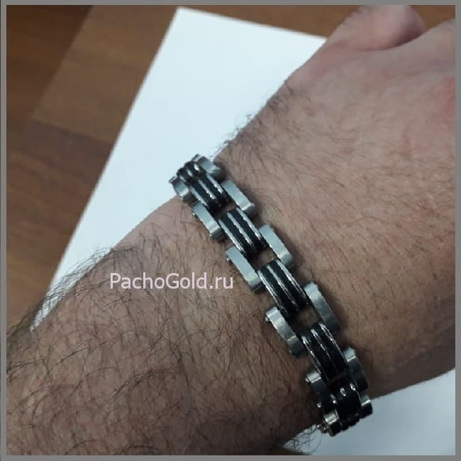 Стильный браслет из белого золота PachoGold