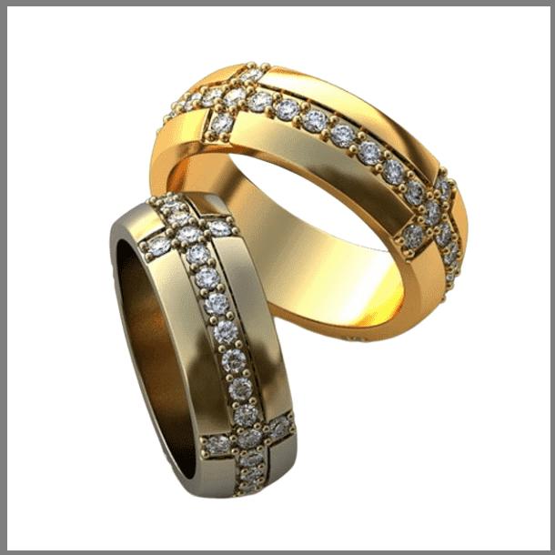 Толстое обручальное кольцо из золота