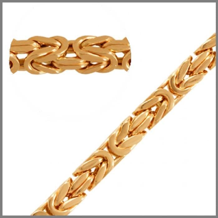 Цепь Лисий хвост из золота на заказ