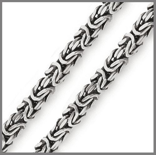 Цепочка Лисий хвост из серебра