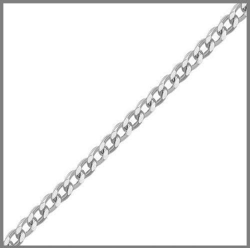 Цепочка панцирного плетения из серебра