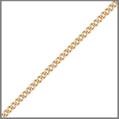Цепочка панцирного плетения из золота ручной работы
