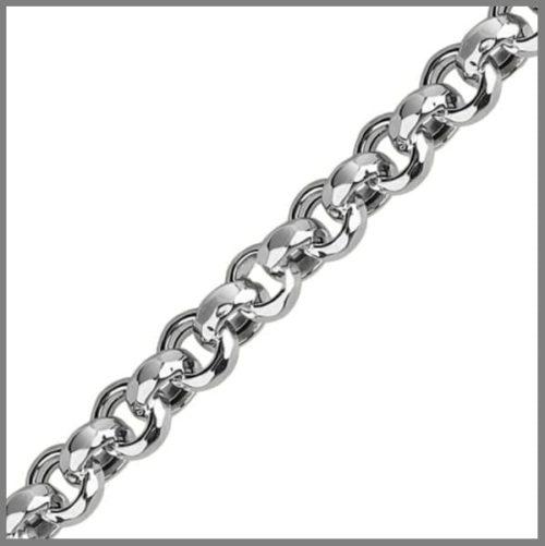 Цепочка Шопард из серебра