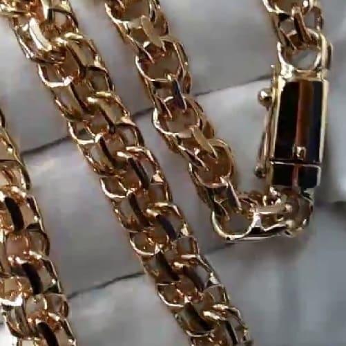 Плетение Бисмарк по индивидуальным размерам из золота