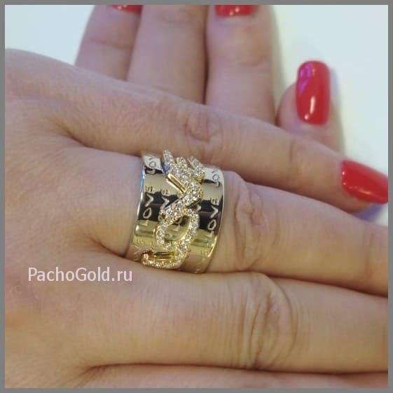 Заказать кольцо из золота для женщин Love