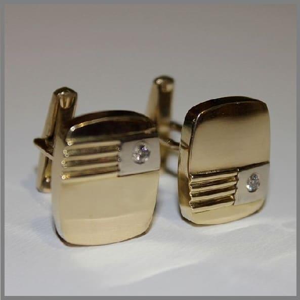 Запонки из золота и серебра на заказ