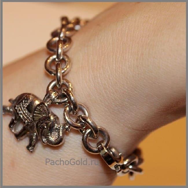 Женский браслет ручной работы Слон