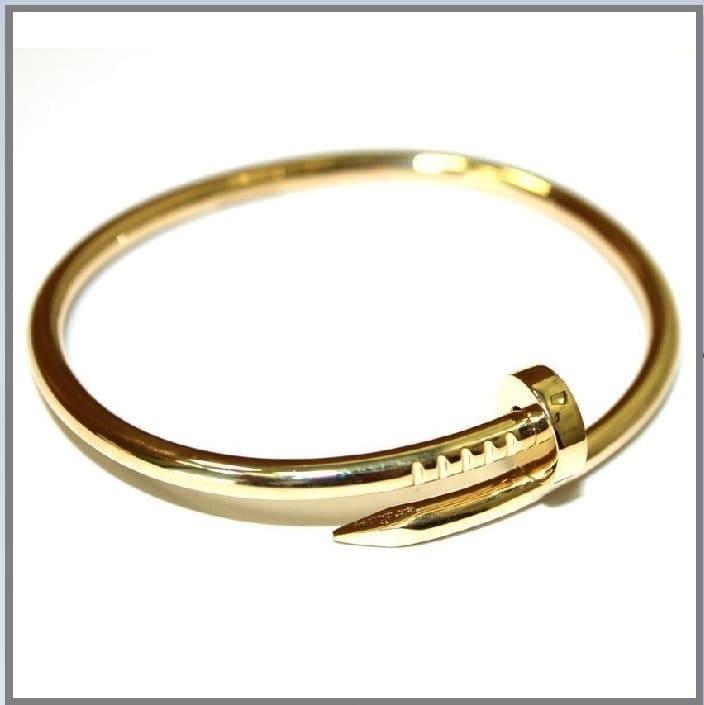 Женский жесткий браслет Гвоздь из золота