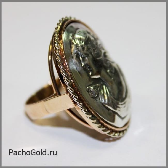 Женское кольцо камея на заказ