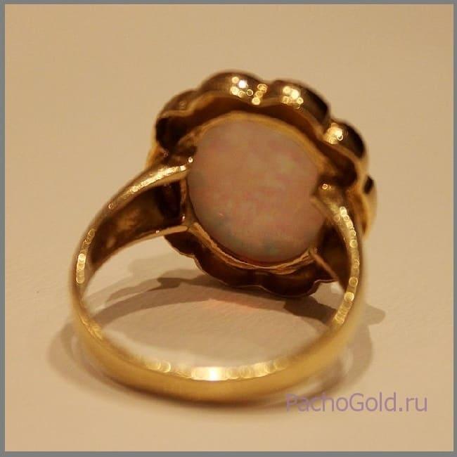 Женское кольцо с опалом на заказ Небо для Лулу