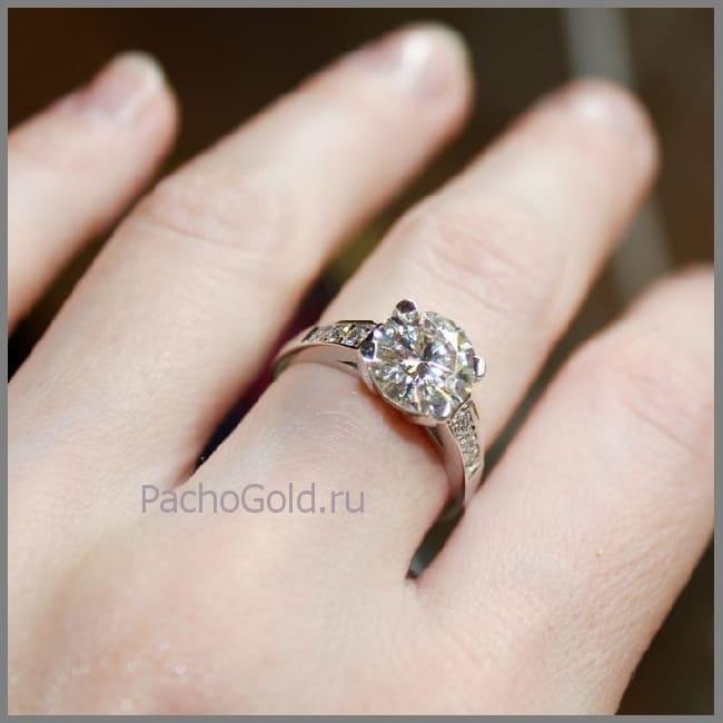 Женское кольцо Ривери на заказ